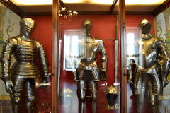 Knightly costumes. In the museum of Hermitage Stock Photography
