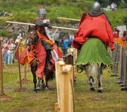 Knightly duel Stock Images