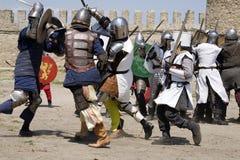 knightly slagsmål Arkivfoton