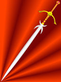 Knightly sword Royalty Free Stock Photography