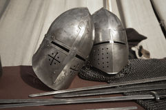 Knightly weapon and armour Stock Photo