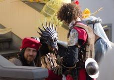 knights средневековое Стоковое фото RF