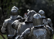 knights средневековое Стоковые Фото