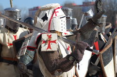 Knights. In this picture: Knights templar at the historic festival. Place: Belarus, Minsk Camera: Nikon D50 stock image