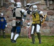 Knights stock photo