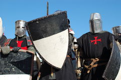 Knights. In this picture: Knights at the historic festival. Place: Belarus, Minsk stock photos