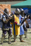 Knights. Before the attack at the historic festival Stock Images