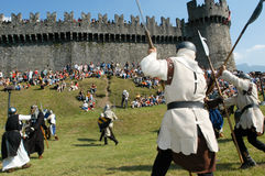 Knights in action during the annual Renaissance Festival Stock Photo