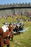 Knights in action during the annual Renaissance Festival Royalty Free Stock Photo