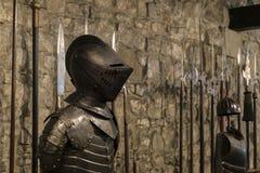 Knights a armadura de um guerreiro húngaro fotografia de stock