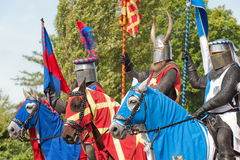 Knights in armor Royalty Free Stock Images