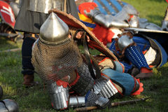 Knights in armor Stock Photography