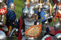 Knights in armor Royalty Free Stock Image
