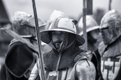 Knights in armor Stock Image