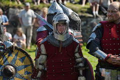 Knights in armor battle Royalty Free Stock Photos