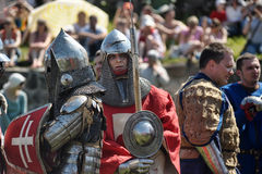 Knights in armor battle Royalty Free Stock Photo