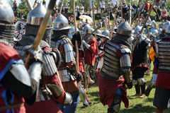 Knights in armor battle Royalty Free Stock Photography