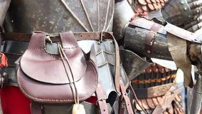 Knights in Armor. Great knights in heavy steel armor stock video