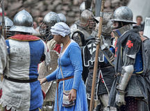 Knights armor at the historic festival Royalty Free Stock Photos