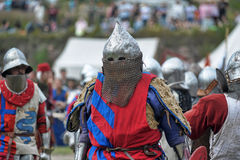 Knights armor at the historic festival Stock Image