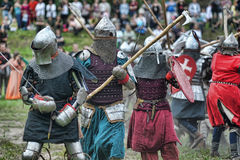 Knights armor at the historic festival Royalty Free Stock Photo