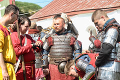 Knights armor at the historic festival Royalty Free Stock Photography