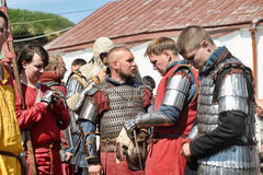 Knights armor at the historic festival Stock Photo