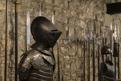 Knights armor of a Hungarian warrior. So called Cancer or Hungarian breast. Hungary, 16th century Stock Photography