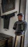 Knights armor Museum of Meersburg in Germany. Museum of Meersburg in Germany at the old castle Stock Images