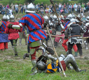 Knights in armor with shields Royalty Free Stock Photography