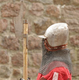 Knights in an armor and with the weapon Royalty Free Stock Images