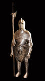 Knights armour isolated on black Stock Images