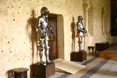 Knights armours. In the castle of Segovia Stock Photo