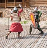 Knights battle Royalty Free Stock Photo
