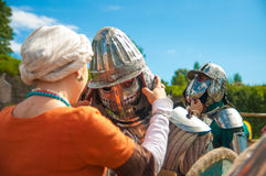 Knights before the battle Royalty Free Stock Photography