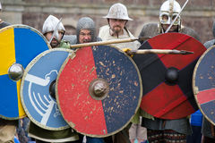 Knights in battle Stock Photography