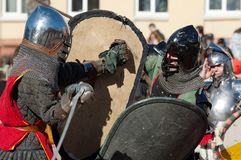 Knights battle Royalty Free Stock Image