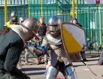 Knights clash Stock Photos