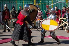 Knights clash Royalty Free Stock Photos