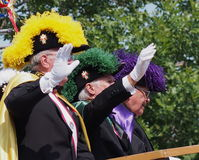 Knights Of Columbus Float In K-Days Parade Stock Photo