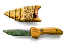 Knights Dagger wood Stock Image