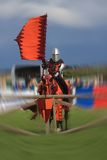 The Knights of the Damned. Jousting stunt team at the Anglesey Show Royalty Free Stock Photo