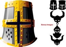 Knights el casco ilustración del vector