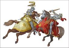 Knights el torneo Imágenes de archivo libres de regalías
