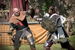 Knights fight Stock Photos