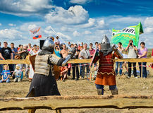 Knights fight Stock Image