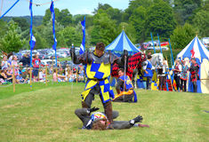 Knights fight dramatic final Royalty Free Stock Photography