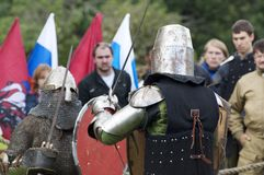 Knights fighting Royalty Free Stock Images