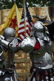 Knights Fighting Stock Photo