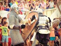 Knights fighting Stock Photo